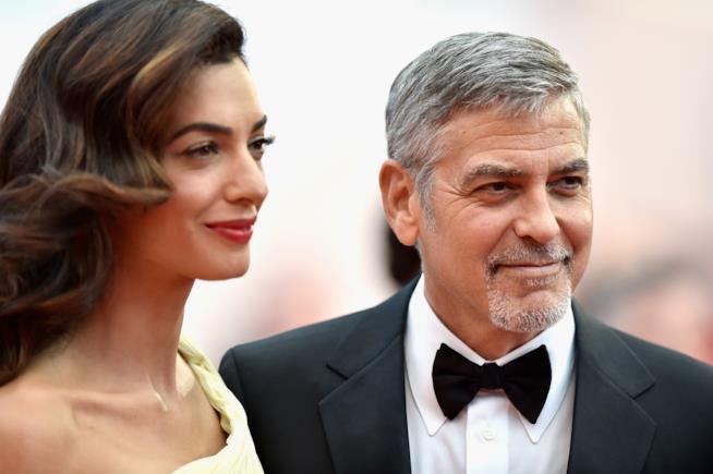 I coniugi Clooney alla prima del film Money Monster
