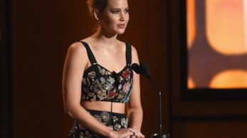 Primo piano di Jennifer Lawrence