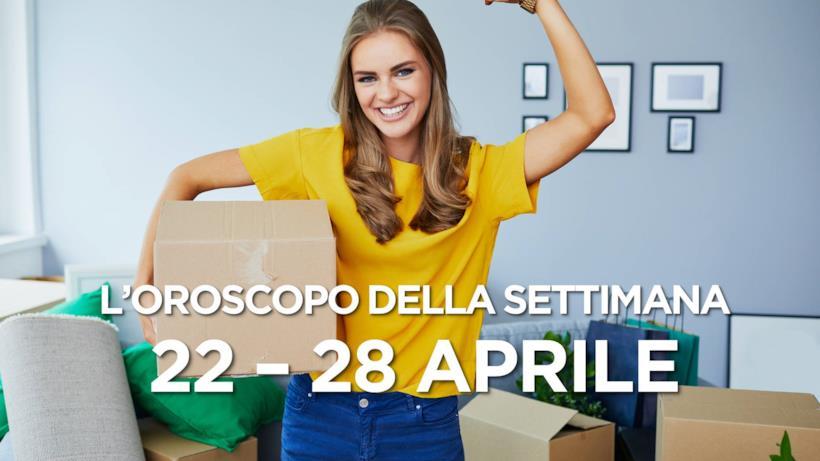 L'oroscopo della settimana, 22 - 28 Aprile 2019