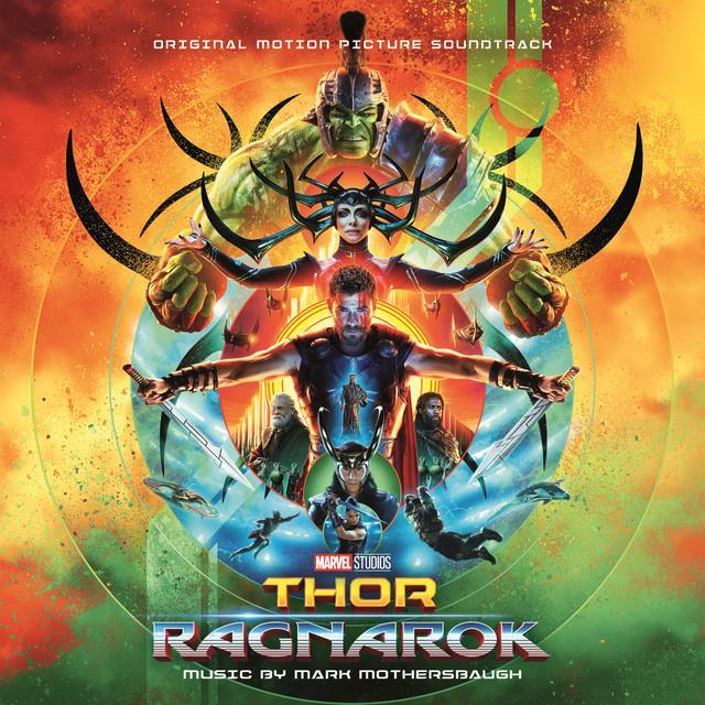 La cover della colonna sonora di Thor:Ragnarok