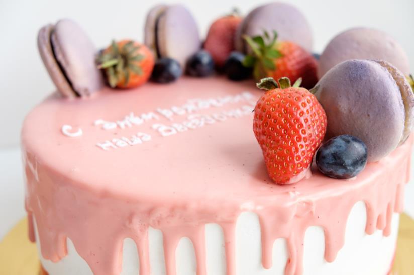 Drip cake colorata