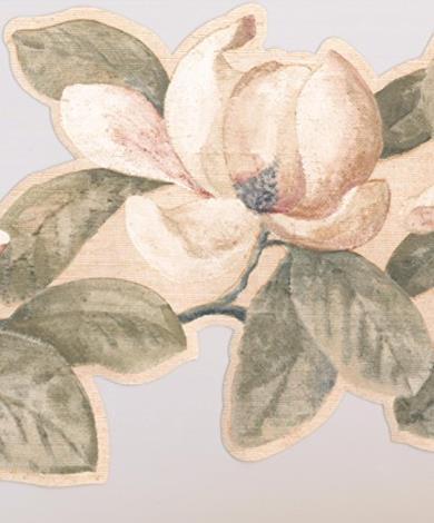 Carta da parati con fiori crema