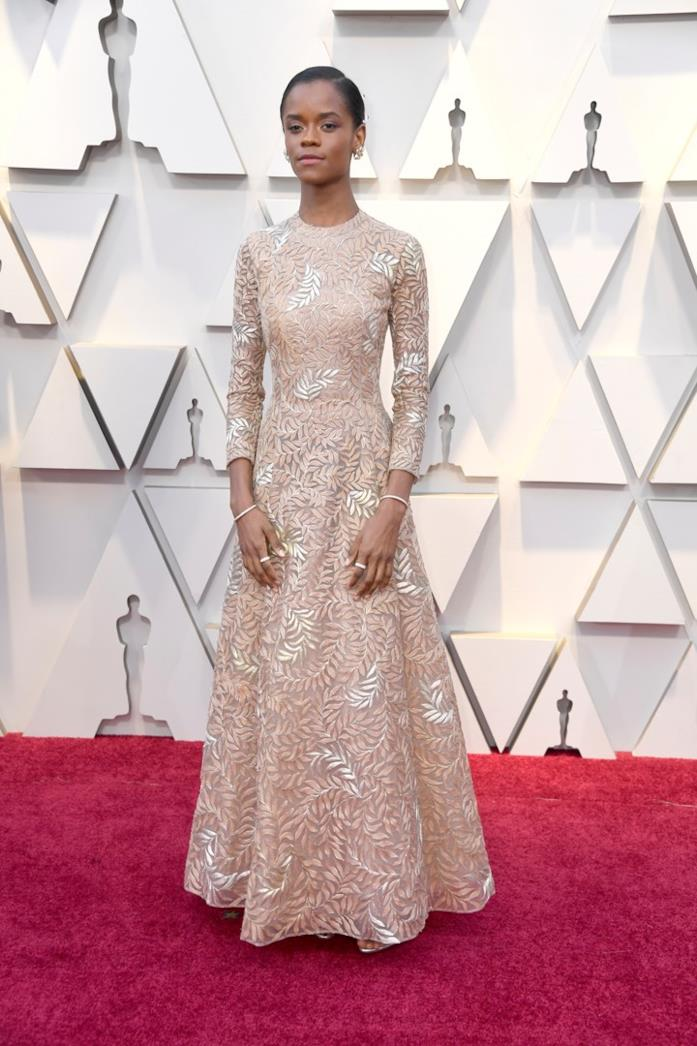Letitia Wright sul red carpet degli Oscar 2019