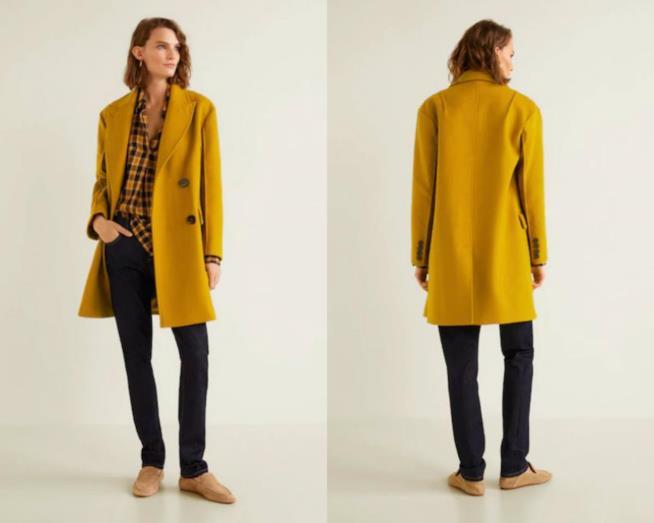 Cappotto giallo senape moda autunno 2018