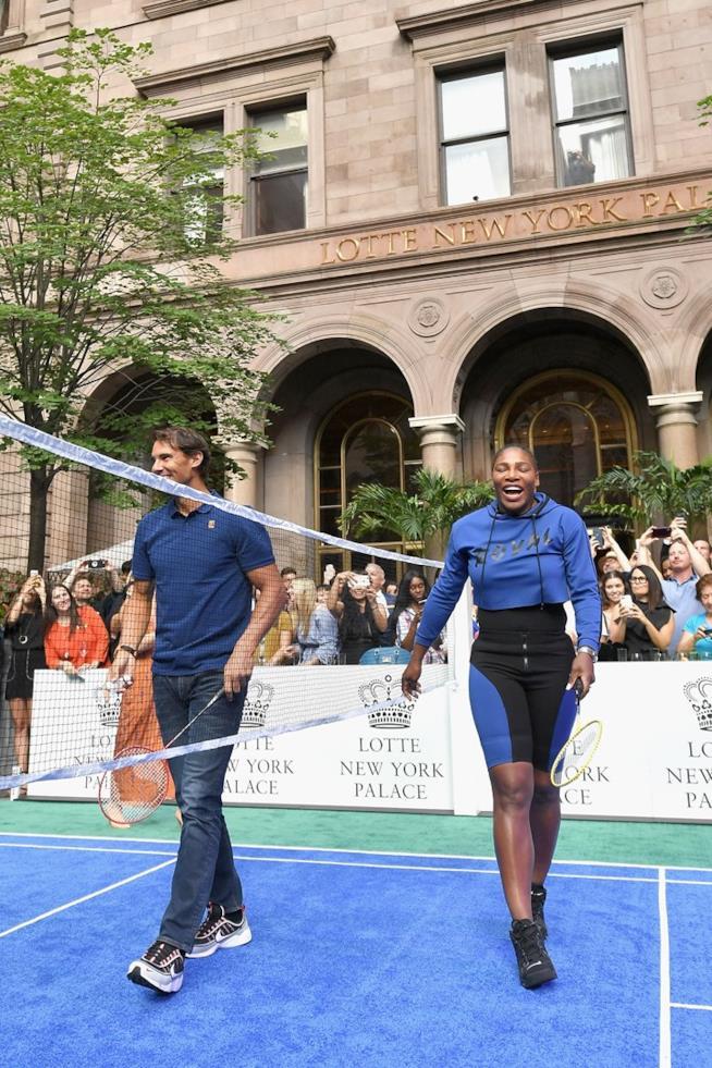 Serena Williams e Rafael Nadal al  Lotte New York Palace Invitational