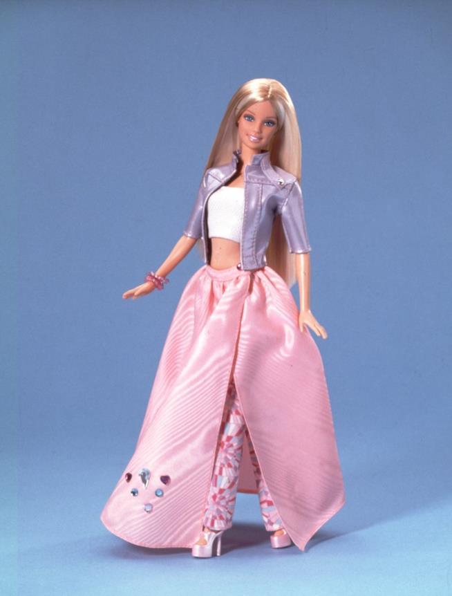 Una Barbie in rosa
