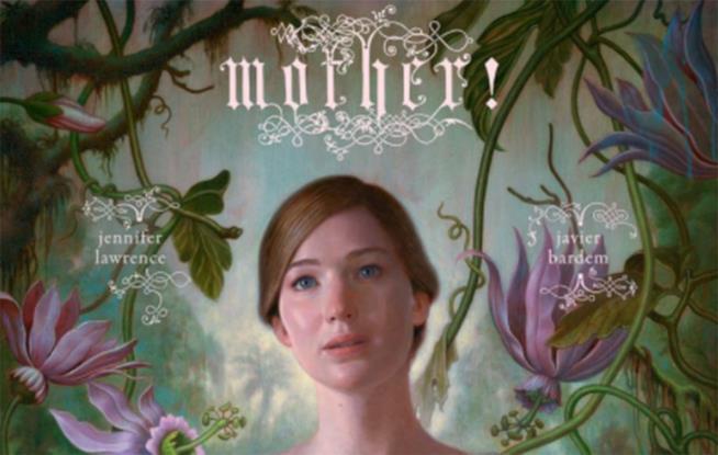 Un dettaglio della locandina del film Madre! con Jennifer Lawrence