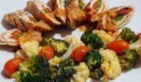 Piatto di carne e verdura