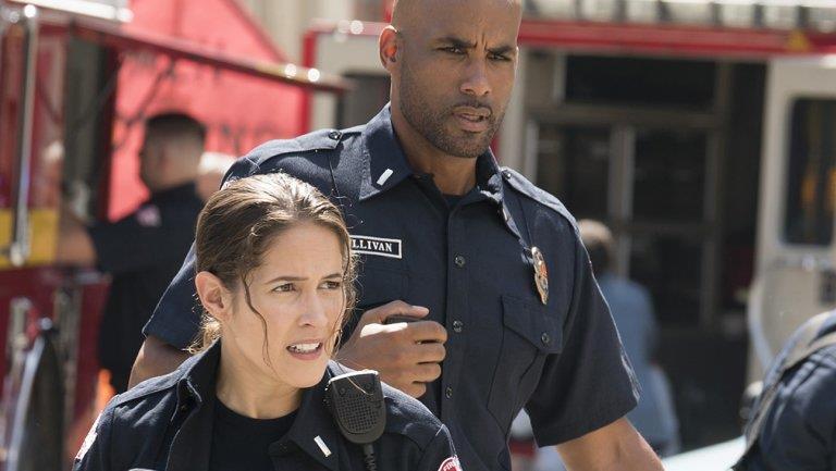 Sullivan ed Andy in un'immagine da Station 19