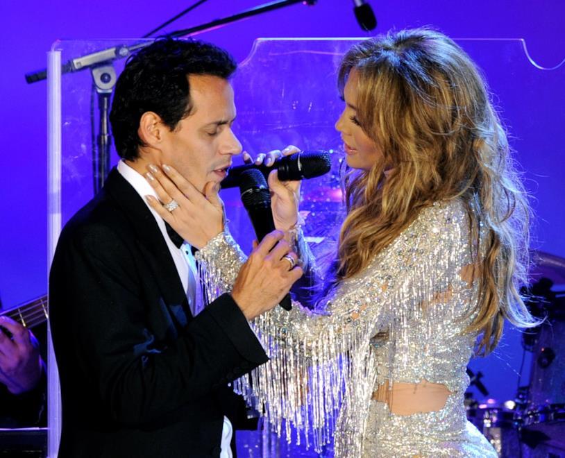 Jennifer Lopez e l'ex marito Marc Anthony