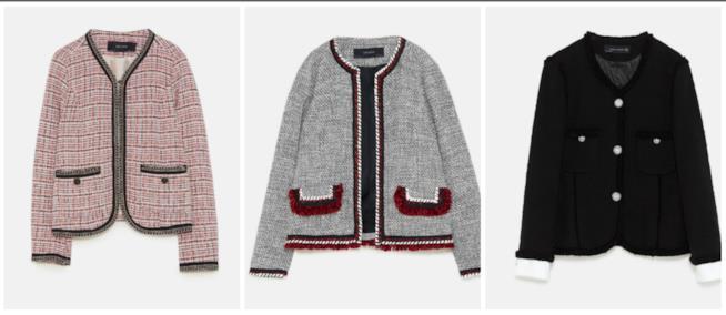 Giacche Chanel di Zara