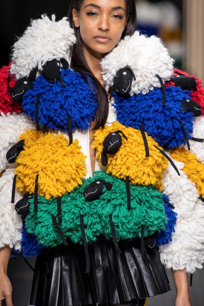Il cappotto percora Benetton Milano Fashion Week 2019 2020