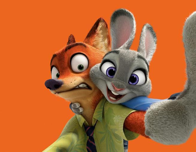 I protagonisti di Zootropolis, la coniglietta Judy Hopps e la volpe Nick Wilde