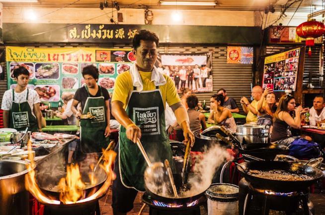 Bancarelle di street food a Bangkok