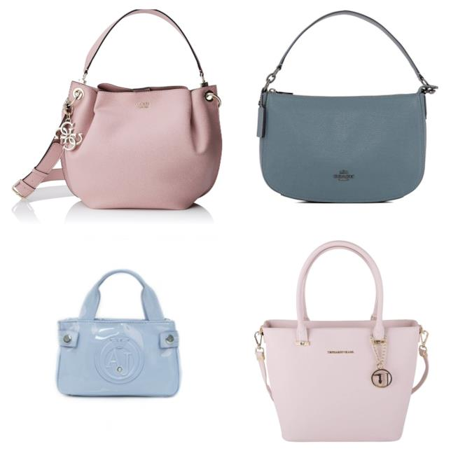 Borse azzurro e rosa di moda per l'autunno inverno 2018-19