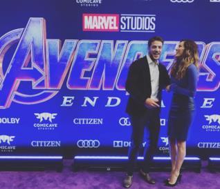 Alberto Frezza e Stefania Spampinato all'anteprima di Avengers: Endgame