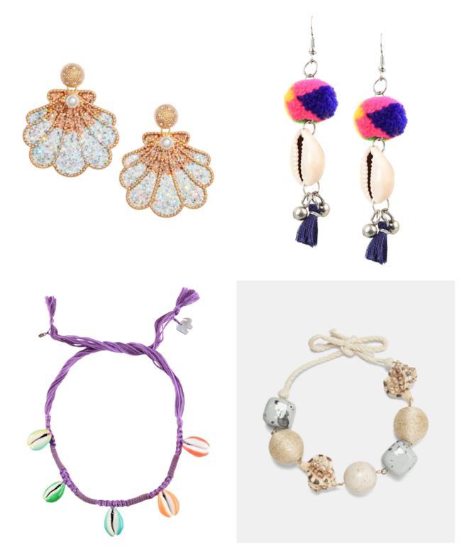 Con le conchiglie, i gioielli di moda per l'estate 2018