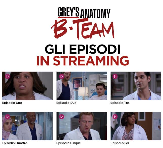 Grey's Anatomy B-Team tutti gli episodi in streaming