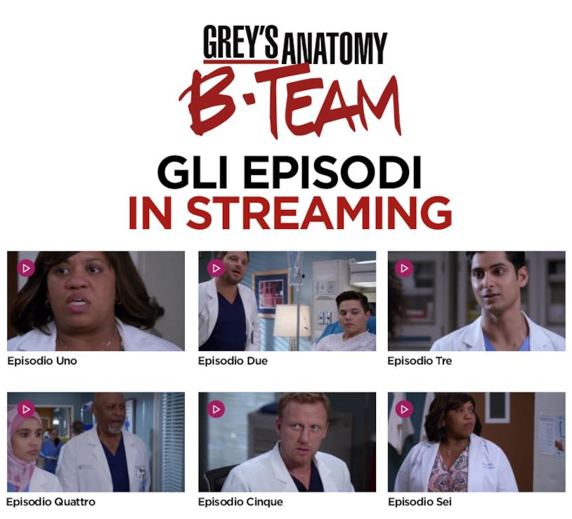 Grey's Anatomy B-Team tutti gli episodi in streaming
