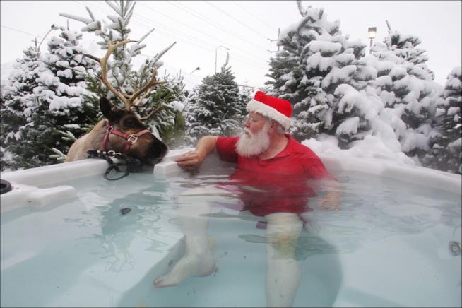 Babbo Natale alla spa