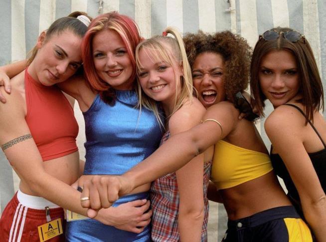 Le Spice Girls agli esordi negli anni '90