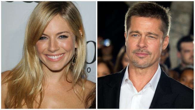 Sienna Miller e l'ipotetico nuovo fidanzato Brad Pitt