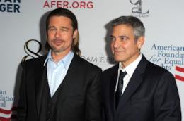 Gli attori Brad Pitt e George Clooney