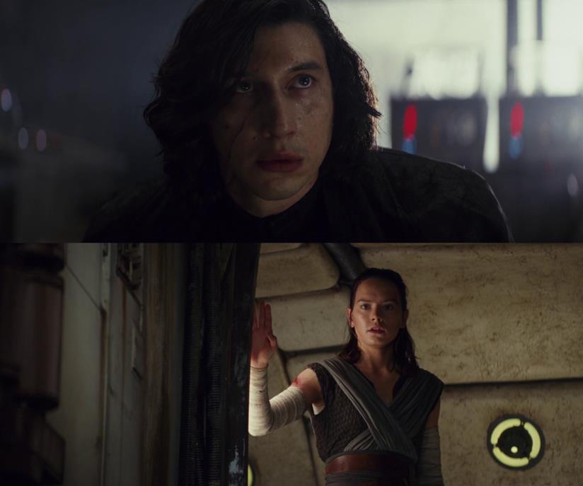 Adam Driver e Daisy Ridlei nell'Episodio VIII di Star Wars