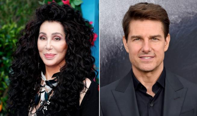 Cher e Tom Cruise in un collage