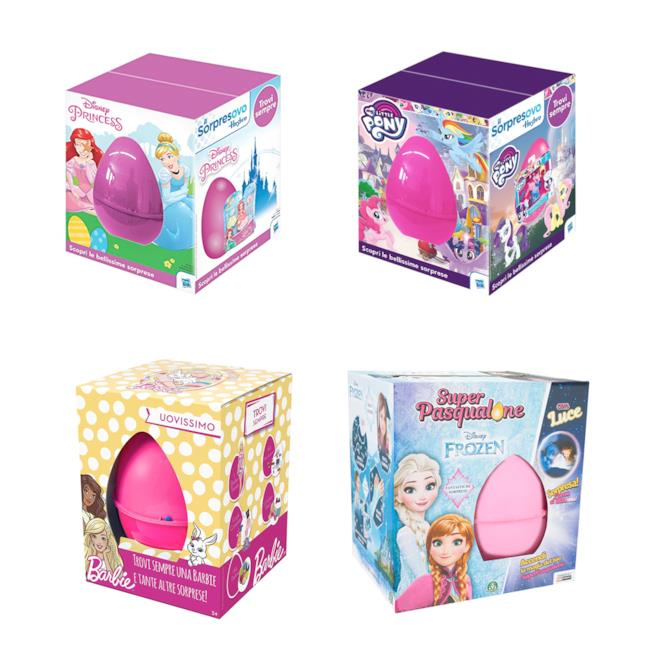 Uova di Pasqua giocattolo per le femmine