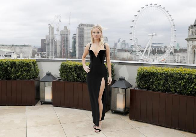 Jennifer Lawrence al photocall di Red Sparrow