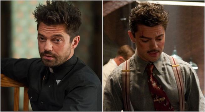Collage di Dominic Cooper in serie DC e Marvel