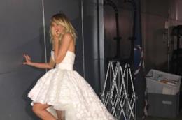 Alessia Marcuzzi in abito da sposa