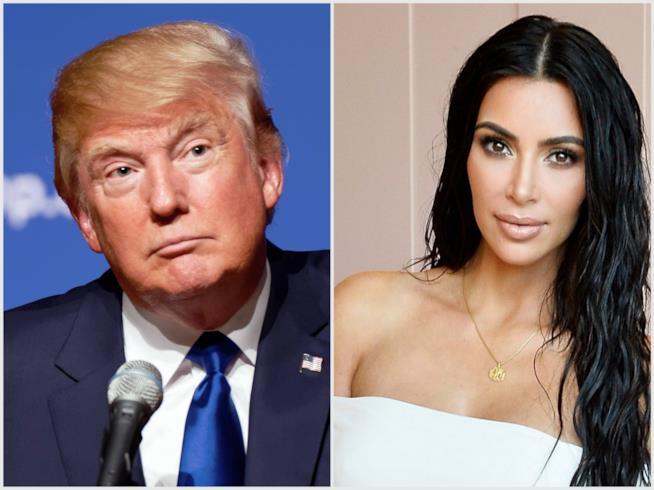 Donald Trump e Kim Kardashian