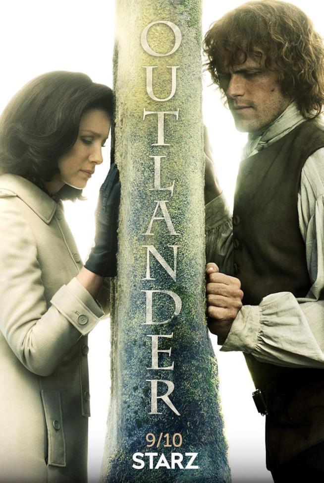 Il poster ufficiale della stagione 3 di Outlander