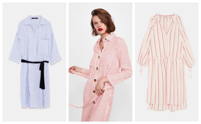 A righe, gli abiti stile camicia di tendenza per la primavera estate 2018
