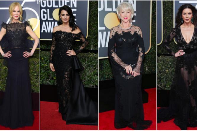 Le meglio vestite dei Golden Globes 2018