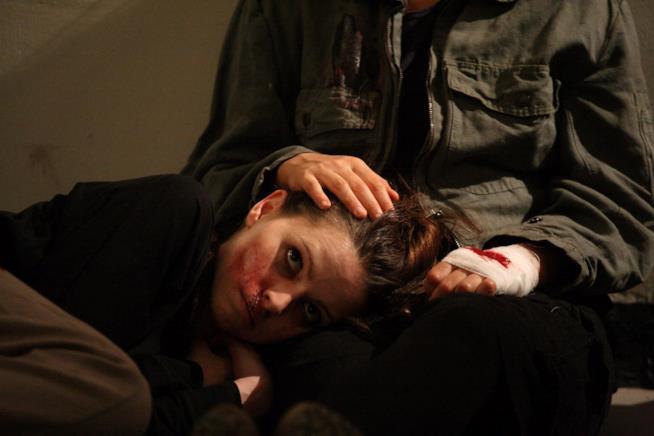 Una scena del film Diaz