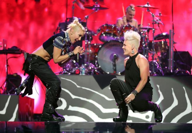 Le cantanti Pink e Gwen Stefani