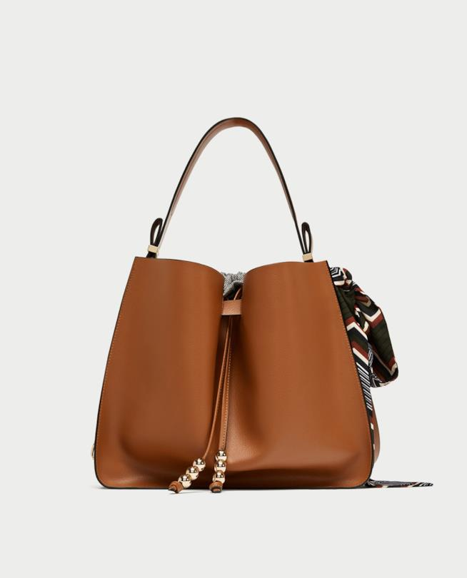 Zara borsa a sacca per regali di Natale