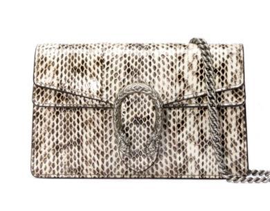 Mini borsa Dionysus in pelle di serpente