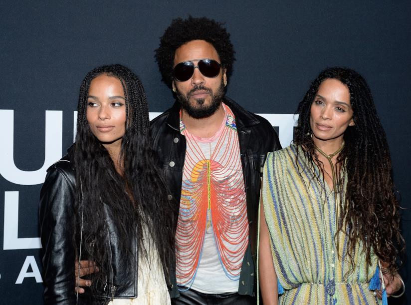 Zoë Kravitz, Lenny Kravitz e Lisa Bonet