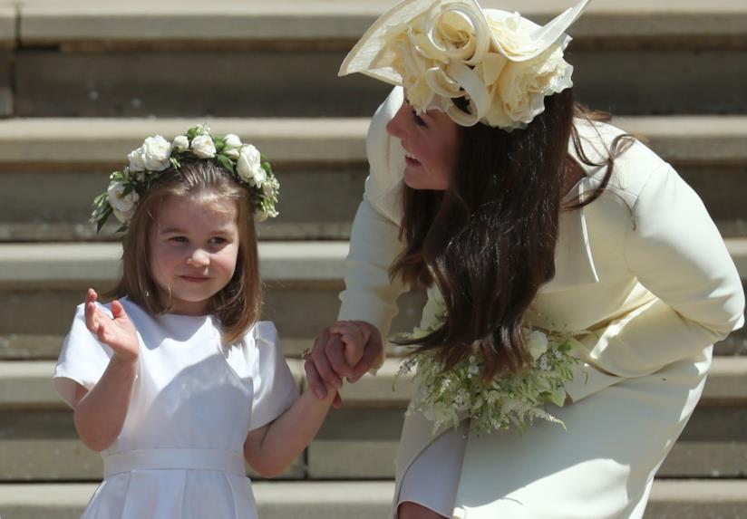 La Principessa Charlotte con Kate Middleton