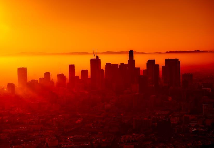 Downtown al tramonto