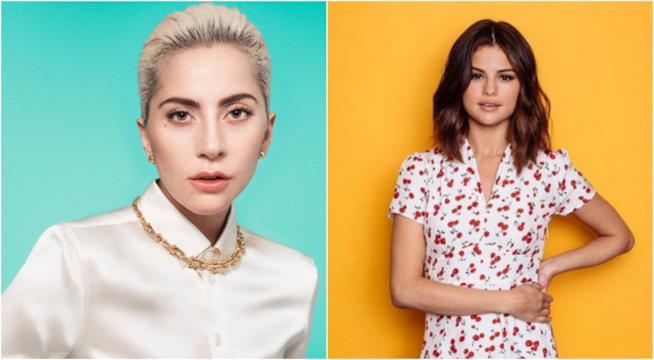 Lady Gaga e Selena Gomez in un collage