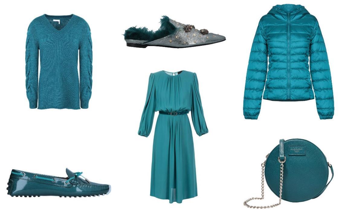 cdda418fb4 Di moda il color petrolio: capi e accessori da donna per l'inverno 2018