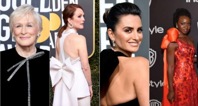 I fiocchi ai Golden Globes 2019 su Glenn Close, Julianne Moore, Penelope Cruz e Lupita Nyong'o