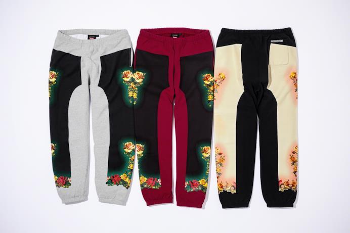 Pantaloni tuta con stampa floreale Supreme/Gaultier