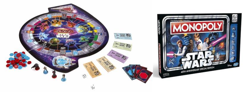 Due edizioni di Monopoli dedicate a Star Wars