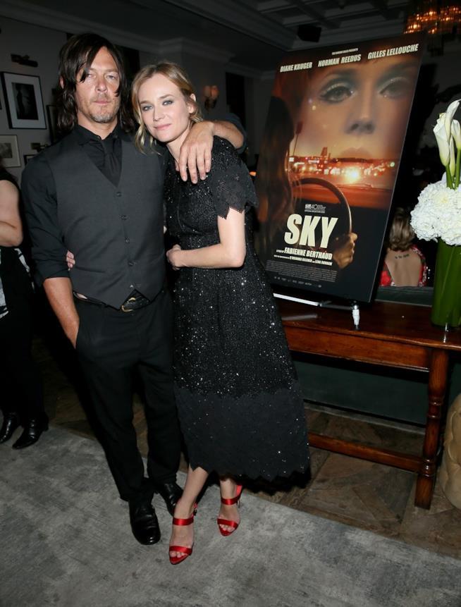 Norman Reedus e Diane Kruger durante la promozione di Sky